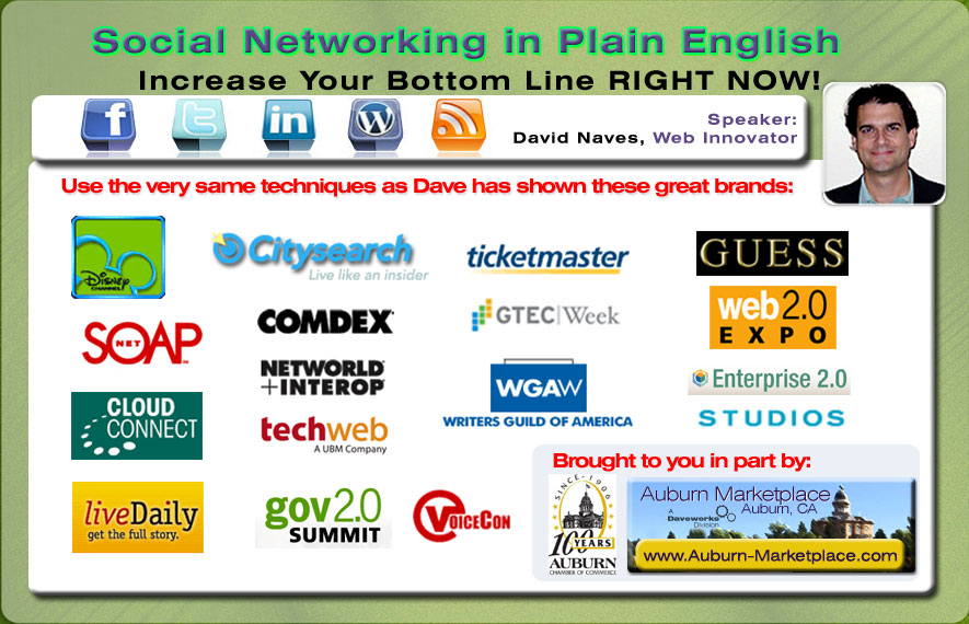Social Media in Plain English – A Workshop with Web Pro and Innovator -David Naves