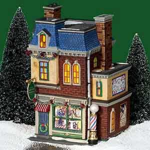 Midtown Barbershop Dept 56 Retired 58944 Christmas in The City