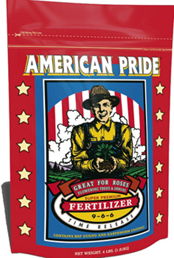 American Pride Time Release Fertilizer (9-6-6)  by Fox Farm.  Great for Roses! 4lb.