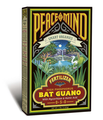 Peace of Mind Bat Guano (0-4-0) Fertilizer by Fox Farm - 4lb
