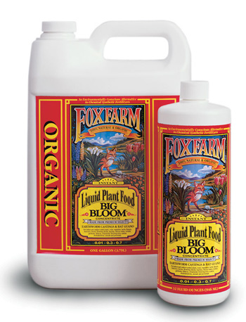 Big Bloom Organic Liquid Fertilizer (.01-.3-.7) by Fox Farm - 1 Gallon