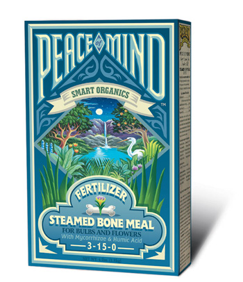 Peace of Mind Steamed Bone Meal Fertilizer (3-15-0) by Fox Farm - 4lb