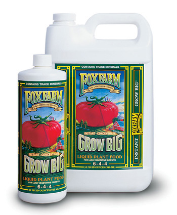 Grow Big Liquid Plant Food (6-4-4) by Fox Farm - 1 Gallon