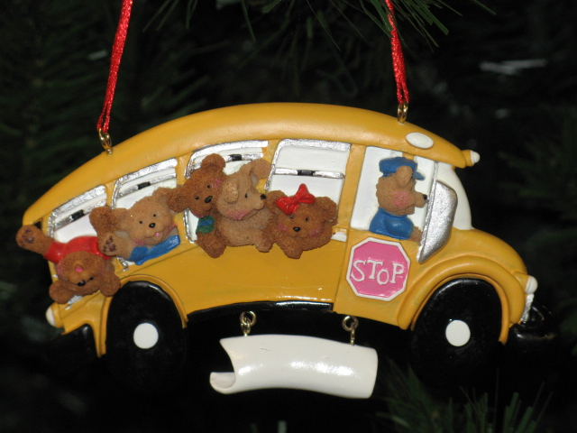 School Bus Personalized Christmas Ornament Teacher Gift Kurt Adler