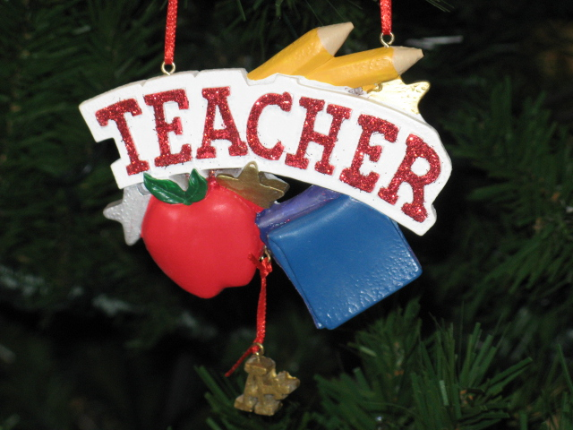 School Teacher Personalized Christmas Ornament Gift Kurt Adler