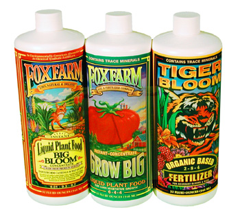 TRI-PAC of Big Bloom, Grow Big & Tiger Bloom Liquid Fertilizers by Fox Farm