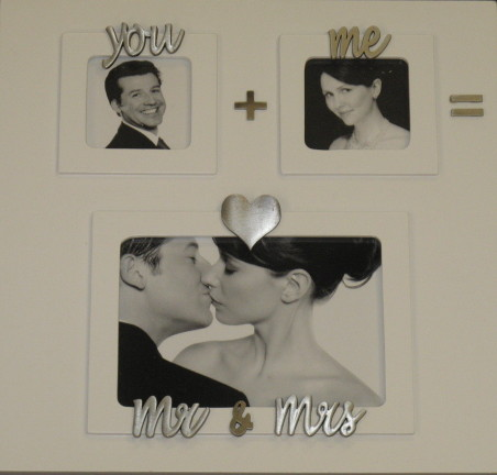 You plus Me equals Mr & Mrs Large Wedding Frame Mud Pie