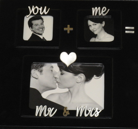 Large Black Equation Wedding Photo Frame Mud Pie
