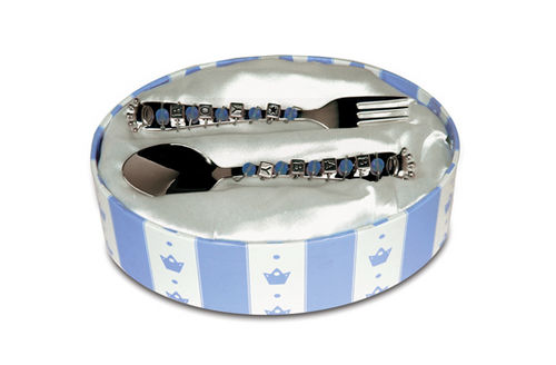 Prince Baby Boy Spoon and Fork Set of 2 Mud Pie