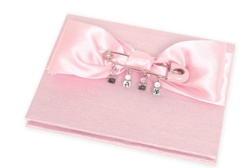 Pink Diaper Pin Brag Book Mud Pie Baby Girl