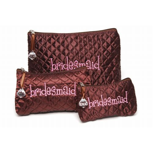 Bridesmaid Cosmetic Bag Set of 3 I Do Mud Pie Wedding