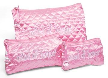 Maid of Honor Cosmetic Bag Set of 3 I Do Mud Pie Wedding