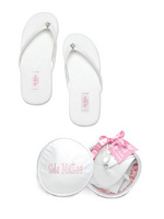 Sole Mates Flip Flops With Case Size Small I Do Mud Pie Wedding